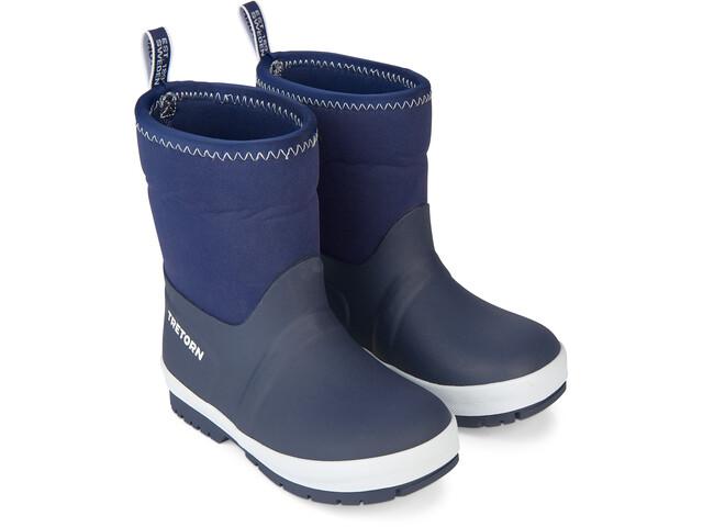 Tretorn Kuling Neoprene Rubber Boots Barn Navy/White